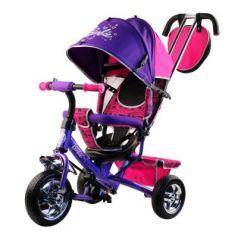 "Велосипед-коляска Barbie (Mattel) Велосипед-коляска 10""/8"" фиолетовый"