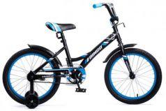 """Велосипед Navigator Bingo 18"""" черный-голубой ВМ18098"""