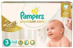 Подгузники КОМПЛЕКТ 120 шт. PAMPERS (Памперс) Premium Care, размер 3 (5-9 кг)