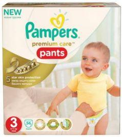 Подгузники-трусики КОМПЛЕКТ 56 шт., PAMPERS (Памперс) Premium Care Pants, размер 3 (6-11 кг)
