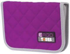 Пенал TIGER FAMILY (ТАЙГЕР), 1 отделение, 2 откидные планки, фиолетовый, 20х14х4 см, TGRW-002C1E