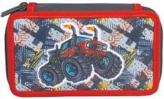 "Пенал TIGER FAMILY (ТАЙГЕР), 2 отделения, ""Flaming Tractor"", 19х11х5 см, 227000"
