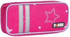 "Пенал TIGER FAMILY (ТАЙГЕР), 1 отделение, откидная планка, ""Twinkle Stars"", 23x7x11 см, 227008"