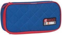 Пенал TIGER FAMILY (ТАЙГЕР), 1 отделение, раскладная откидная планка, синий/красный, 23x7x11 см, 227013
