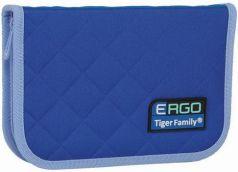 Пенал TIGER FAMILY (ТАЙГЕР) 1 отделение, 2 откидные планки, синий-голубой, 20х14х4 см, TGRW-007C1E