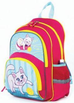 Рюкзак ПИФАГОР+ для начальной школы, девочка, Котенок, 40х30х15 см, 227937