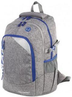 Рюкзак TIGER FAMILY (ТАЙГЕР) с ортопедической спинкой, молодежный, серый, 43х33х23 см, TMMX-007A