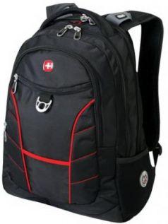 """Рюкзак WENGER, универсальный, черный, красные полосы, """"Rad"""", 30 л, 35х20х47 см, 1178215"""