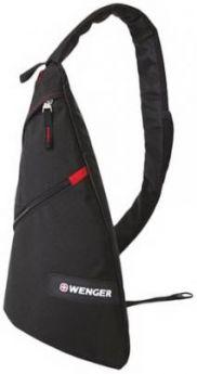 Рюкзак WENGER с одним плечевым ремнем, универсальный, черный, 7 л, 45х25х15 см, 18302130