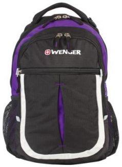"""Рюкзак ручка для переноски WENGER """"Montreux"""" 22 л фиолетовый черный"""
