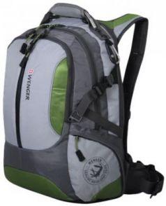 """Рюкзак с отделением для ноутбука WENGER """"Large Volume Daypack"""" 30 л зеленый серый"""