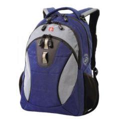 Городской рюкзак дышащая спинка WENGER универсальный 22 л сине-черный