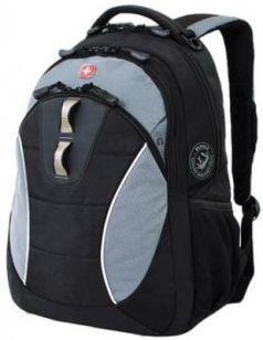Рюкзак WENGER, универсальный, черный, серые вставки, 22 л, 32х15х46 см, 16062415