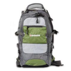 """Рюкзак для путешествий водонепроницаемый WENGER """"Narrow Hiking Pack"""" 22 л серый зеленый"""
