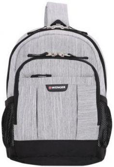 Рюкзак WENGER с одним плечевым ремнем, универсальный, серо-черный, 12 л, 34х24х14 см, 2610424550