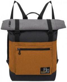 Рюкзак дышащая спинка GRIZZLY для старших классов 15 л черный оранжевый