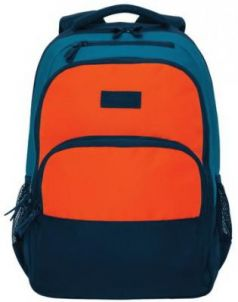 Рюкзак GRIZZLY универсальный, темно-синий/оранжевый, 32х45х23 см, RU-924-2/1