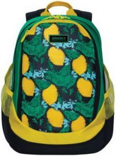 Рюкзак GRIZZLY универсальный, для девушек, Лимоны, 29х40х20 см, RD-953-4/1