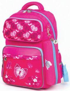 Рюкзак светоотражающие материалы ЮНЛАНДИЯ Бабочки 18 л розовый