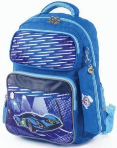 Рюкзак дышащая спинка ЮНЛАНДИЯ Машина 18 л голубой