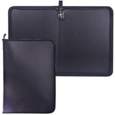 Папка на молнии пластиковая, А4, матовая, черная, размер 320х230 мм, ПМ-А4-11/4
