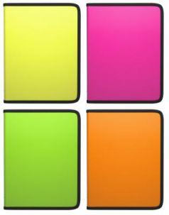 """Папка на молнии пластиковая ERICH KRAUSE """"Glance Neon"""", A4, цвет ассорти, 43032"""