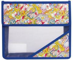 """Папка для тетрадей, А5, пластиковая на липучке, с рисунком на уголке, """"Арт искусство"""", 226556"""