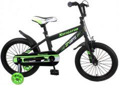 """Велосипед Navigator Sport I 16"""" черно-зеленый ВН16149"""