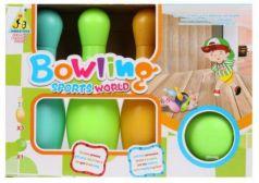 Набор для игры в боулинг 19 см, 1  мяч, 3 кегли