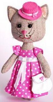 """Набор для изготовления текстильной игрушки Перловка """"Тётя Кошка"""" от 8 лет"""
