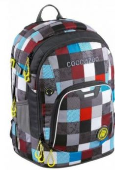 Рюкзак светоотражающие материалы Coocazoo Ray Day Checkmate Blue Red 24 л бирюзовый серый