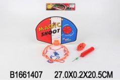 Набор для игры в баскетбол, щит 27х20см, мяч, насос в пак. в кор.2*72шт