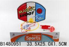 Набор для игры в баскетбол, щит с кольцом, мяч, насос в пак. в кор.2*72шт
