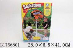 Набор д/игры в баскетбол напольн.пласт, 104см, щит 33х24см картон,мяч 10см,насос 83A в кор в кор24шт