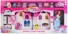Дом для кукол, свет+звук, с куклой и мебелью WD-924E в кор. в кор.8шт