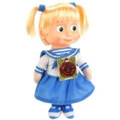 Мягкая игрушка музыкальная кукла МУЛЬТИ-ПУЛЬТИ Маша-морячка пластик текстиль металл белый голубой 29 см