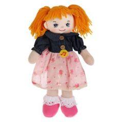 Мягкая игрушка музыкальная кукла МУЛЬТИ-ПУЛЬТИ Куколка в стильном платьице пластик текстиль металл 30 см
