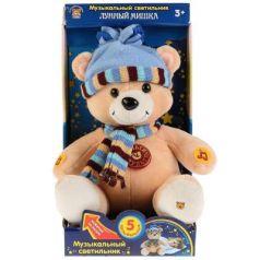 Мягкая игрушка музыкальная Медведь МУЛЬТИ-ПУЛЬТИ Лунный мишка пластик текстиль металл 23 см