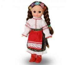 Кукла ВЕСНА Эля в украинском костюме 30.5 см закрывает глаза