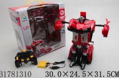 Машинка на радиоуправлении best toys Машина-трансформер пластик, металл от 3 лет красный