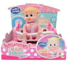 Кукла Bouncin Babies Бони с кроваткой 16 см со звуком ползает