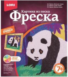 """Фреска. Картина из песка """"Большая панда"""" 39 х 21 х 26 см."""
