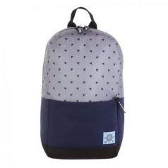 Рюкзак GRIZZLY универсальный, для девушек, Треугольники на сером, 27х43х15 см, RQ-921-5/3