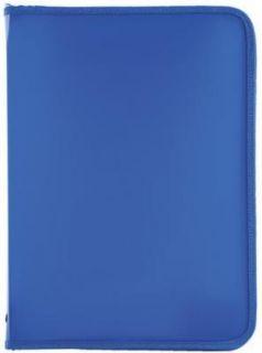 Папка для тетрадей А4 ПИФАГОР, пластик, молния вокруг, один тон, синяя, 228218