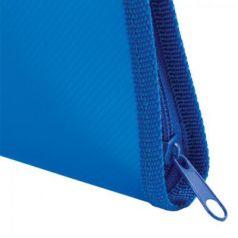 Папка для тетрадей А5 ПИФАГОР, пластик, молния вокруг, один тон, синяя, 228227