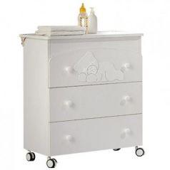 Комод пеленальный с ванночкой Baby Expert Coccolo Lux (white)