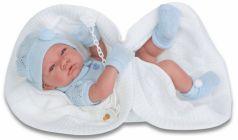 Кукла Munecas Antonio Juan Тони (мальчик) в голубом 42 см мягкая 5063B