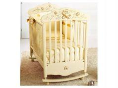 Кроватка-качалка Baby Expert Bijoux (крем/золото)