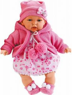 Кукла Munecas Antonio Juan Азалия в ярко-розовом 27 см говорящая 1220C