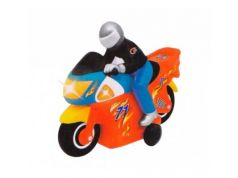 Мотоцикл на радиоуправлении Kiddieland Гонщик пластик от 3 лет красный KID051342